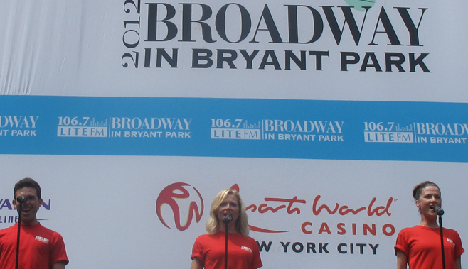 Broadway cast members of Jersey Boys sing: My Boyfriend's Back, My Eyes Adored You, Walk Like A Man