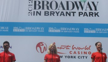 Broadway cast members of Jersey Boys sing: My Boyfriend's Back, My Eyes Adored You, Walk Like A Man