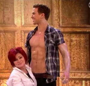 Richard Fleeshman from Ghost with Sharon Osbourne