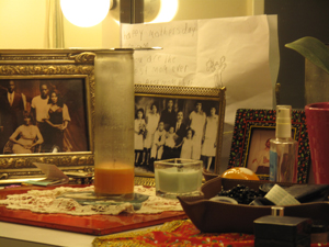 Daphne Rubin-Vega's dressing room at the Broadhurst Theater on Broadway
