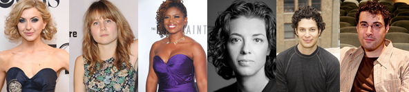 "Emerging Broadway Players: Actress Nina Arianda; playwrights Annie Baker, Katori Hall and Quiara Alegria Hudes; director Thomas Kail; ""Once"" producer Oren Wolf"