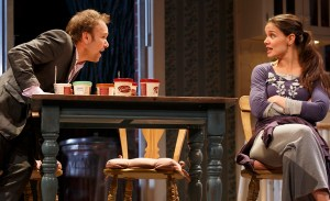 Norbert Leo Butz and Katie Holmes in Dead Accounts on Broadway