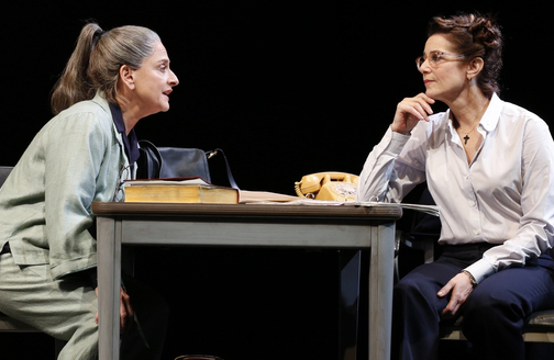 """Patti LuPone and Debra Winger in David Mamet's """"The Anarchist"""" on Broadway"""
