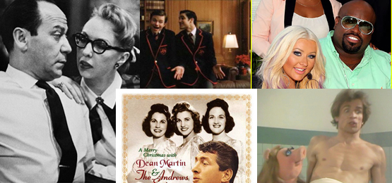 Baby, It's Cold Outside, first sung by composer Frank Loesser and his wife Lynn Garland at a housewarming party (left) has been sung in countles duets: Darren Kris and Chris Coifer (Blaine and Kurt) in Glee, Dean Martin and the Andrews Sisters, Christina Aguilera and Cee Lo Green, even Rudolf Nureyev and Miss Peggy. Now, people are complaining about the song