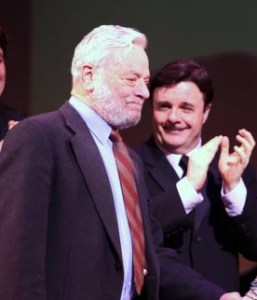 Stephen Sondheim and Nathan Lane