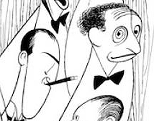 George Gershwin is on the left; Harold Arlen is on the right.