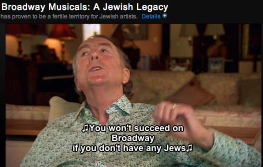 "Eric Idle singing a lyric from his musical ""Spamalot"" on Broadway Musicals: A Jewish Legacy"