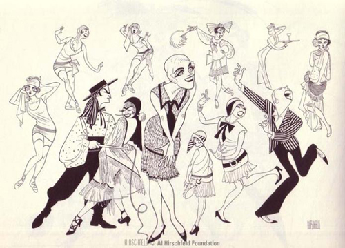 Al Hirschfeld drew his first-ever theater cartoon of Julie Andrews on this date in 1955. She was 20, starring in The Boyfriend