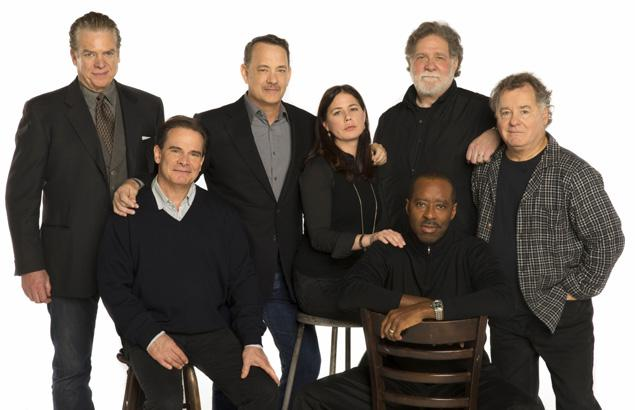 Tom Hanks and the rest of the cast of Lucky Guy