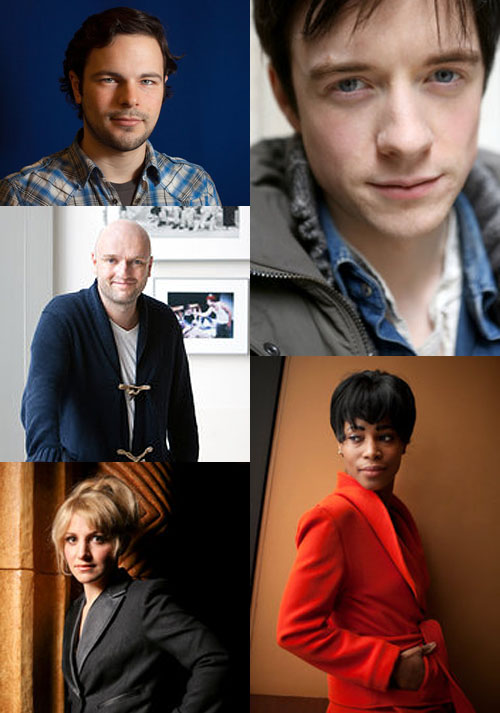 Clockwise from top left: Jonny Orsini, Matthew James Thomas, Valisia LaKae, Annaleigh Ashford , Matthew Maher