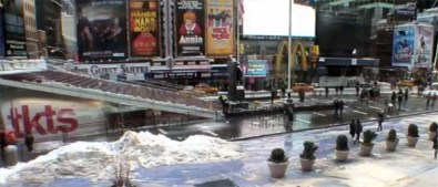 "Losing Nemo: The Times Square theater district on February 9, 2013, after the ""blizzard"""