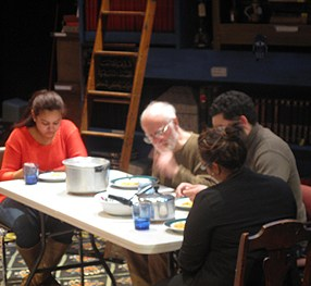 "A scene from ""After"" is the family having a meal"