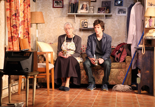 Vanessa Redgrave and Jesse Eisenberg in Eisenberg's play, The Revisionist