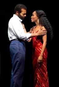 Berry Gordy Jr. (Brandon Victor Dixon) and Diana Ross (Valisia LeKae)