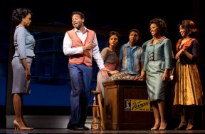 Berry Gordy Jr. (Dixon) with his family.