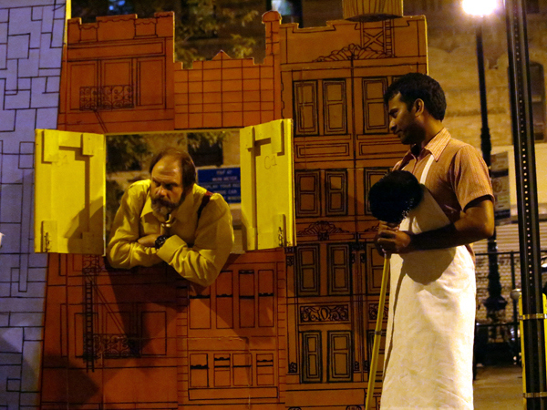 """The Merry Wives of Windsor (Towers),"" a production of the Drilling Company's Shakespeare in the Parking Lot. The City of New York now plans to charge them a parking fee -- and demand they get automobile insurance!"