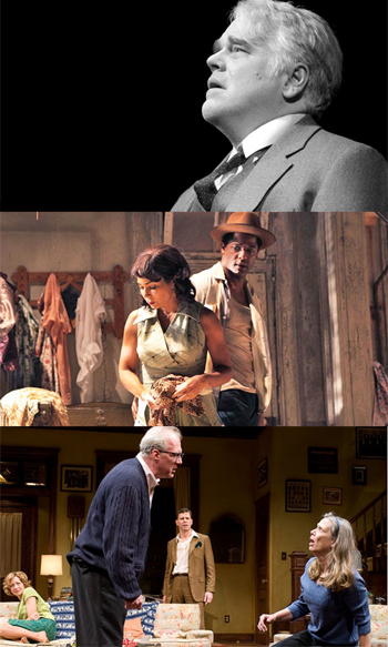 The top 3 plays over past century: Death of a Salesman by Arthur Miller; A Streetcar Named Desire by Tennessee Williams; Who's Afraid of Virginia Woolf? by Edward Albee (Pictured are latest productions of thee plays on Broadway.