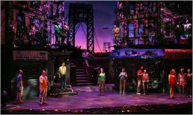 The actual set of In The Heights during the scene of the blackout