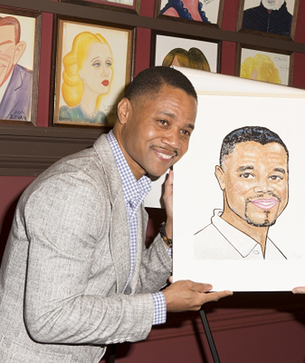 Cuba Gooding Jr. Gets His Face on Sardi's -- and Then Leaves Broadway