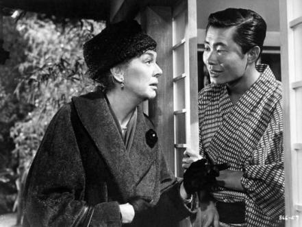 "with Rosalind Russell in ""A Majority of One"""