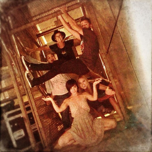 Theater people have more fun: First Date star Krysta Rodriguez and friends.