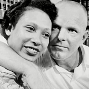 Mr. and Mrs. Loving. The Loving v. Virginia Supreme Court case overturned all laws banning interracial marriage.