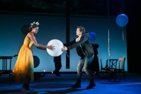 Condola Rashad and Orlando Bloom in Romeo and Juliet on Broadway