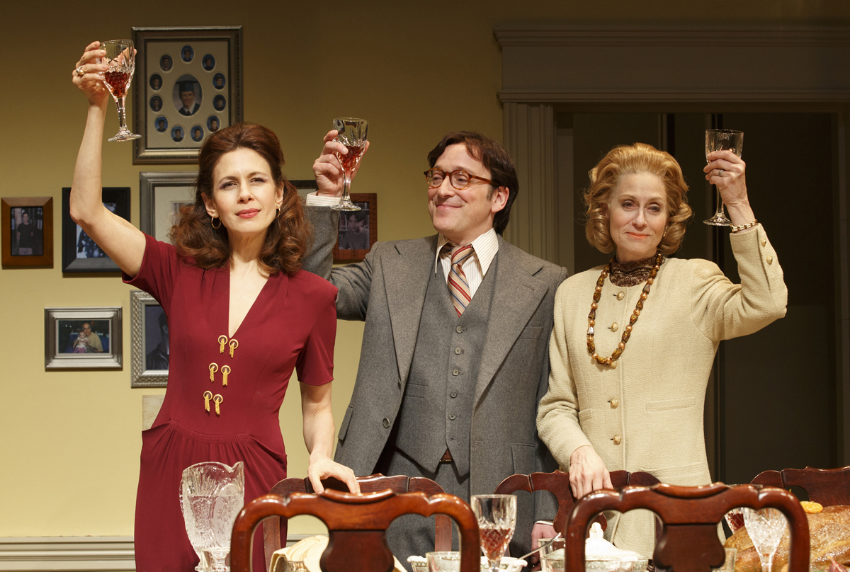 "The Assembled Parties: There are inexplicable moments in Richard Greenberg's play that make you fall in love with the character played by Jessica Hecht – near the end, when she comes out in the dress of her mother the dressmaker; and near the beginning when, now a middle-aged housewife, she explains her experience as a movie star: "" My main talent was not looking like Sandra Dee. Or whoever was being Sandra Dee that year. It was only four movies, isn't that something? Just a phase, really. I love that it happened to me but it was nothing to give up. And I've loved everything that's happened to me since just as much."" Hecht managed to make such modesty, sincerity and optimism not just believable, but possible."