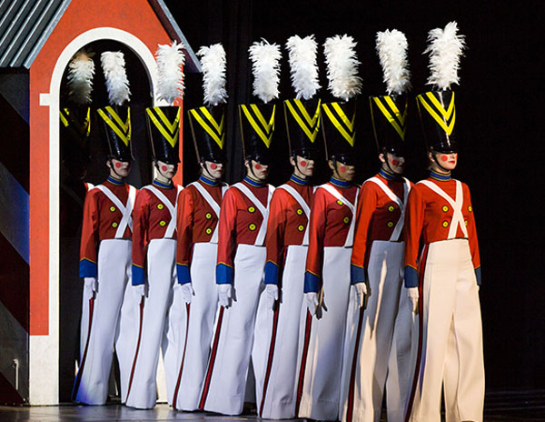 "The Rockettes in the ""Parade of the Wooden Soldiers"" in the Radi"