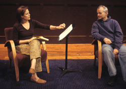 Sigourney Weaver and Bill Murray in The Guys, about 9/11, in 2002 at The Flea