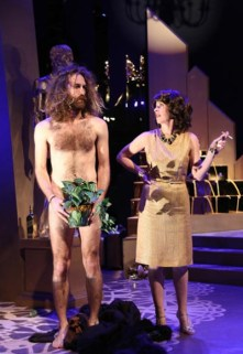 Thomas Graves as Wildman and Lana Lesley as Socialite