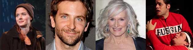 Debra Messing, Bradley Cooper, Glenn Close, Jeremy Jordan and Jonathan Groff