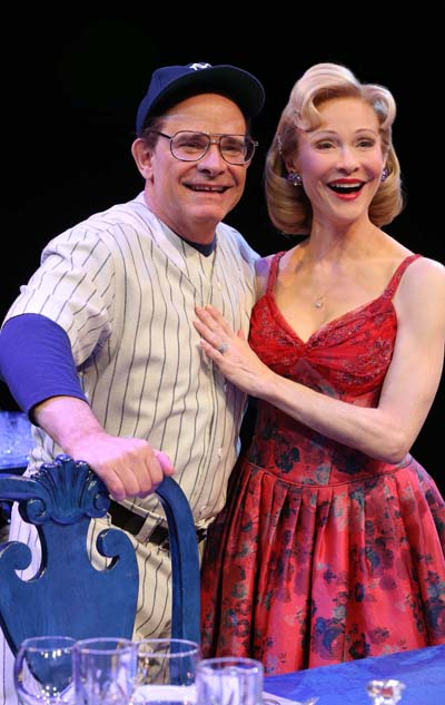Husband and wife Peter Scolari and Tracy Shayne as Yogi Berra and his wife Carmen Berra in Bronx Bombers