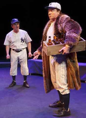 Peter Scolari as Yogi Berra and CJ Wllson as Babe Ruth