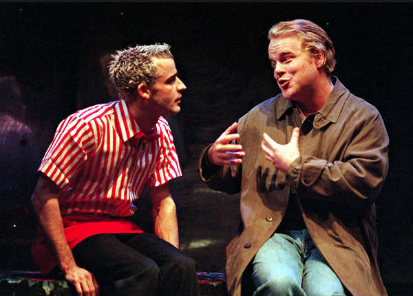Philip Seymour Hoffman in Shopping and Fucking at the New York Theatre Workshop, 1998