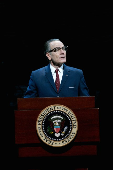 Bryan Cranston as President Lyndon Baines Johnson in All The Way, 2014. Playwright Robert Schenkkan has written a sequel, The Great Society.