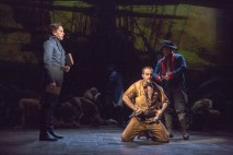 Will Swenson as Javert and Ramin Karimloo as Valjean