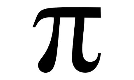The mathematical symbol pi