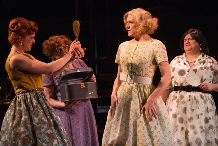 Gabriel Ebert puts on a dress for the first time in public in the play based on a real-life 1950's resort for straight cross-dressers in Harvey Fierstein's play Casa Valentina