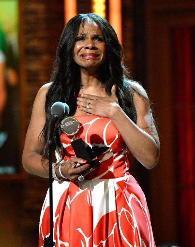 Audra McDonald accepts her sixth (record-breaking) Tony Award, in June