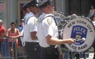 GayPrideParade2014PoliceBand