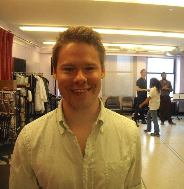 Randy Harrison, at rehearsals for Atomic