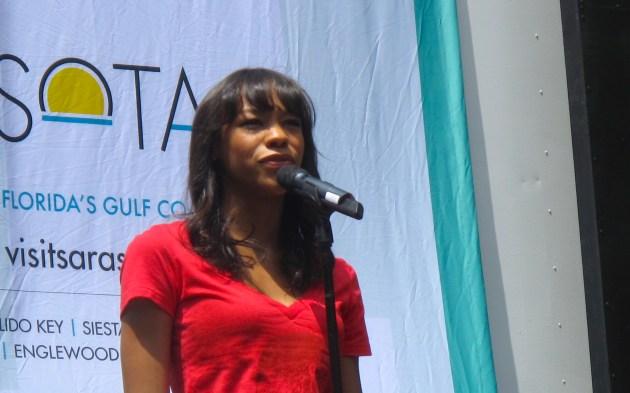 Nikki James at Bryant Park