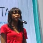 Nikki James of Les Miz singing at Broadway in Bryant Park, 2014