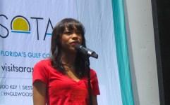 Nikki James of Les Miz singing at Broadway in Bryant Park