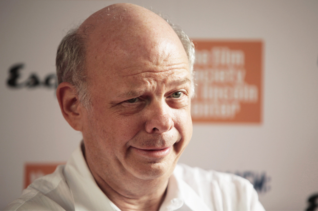 """Actor Wallace Shawn arrives to attend a screening of the film """"Capitalism: A Love Story"""" in New York"""