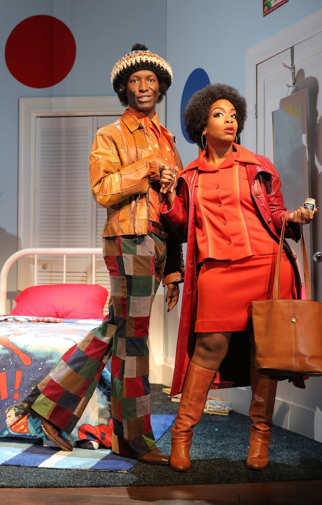 Scene 1 Bootycandy: Phillip James Brannon and Jessica Frances Dukes in Bootycandy by Robert O'Hara