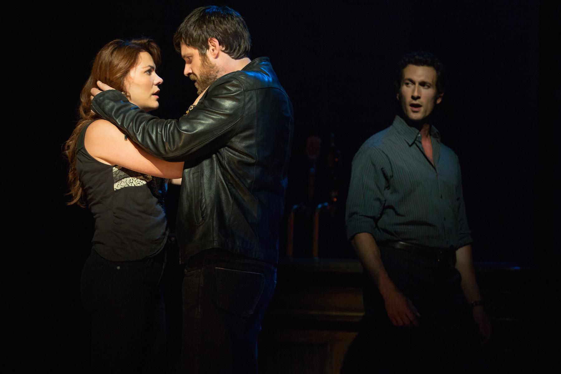 The triangle: Rachel Tucker, Michael Esper, Aaron Lazar