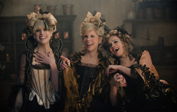 Cinderella's stepmother (Christine Baranski) and two stepsisters (Tammy Blanchard and Lucy Punch)