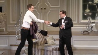 Micah Stock and Nathan Lane